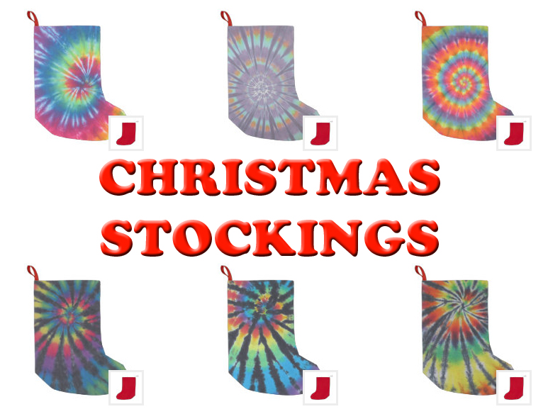 tie dye christmas stockings from zazzle
