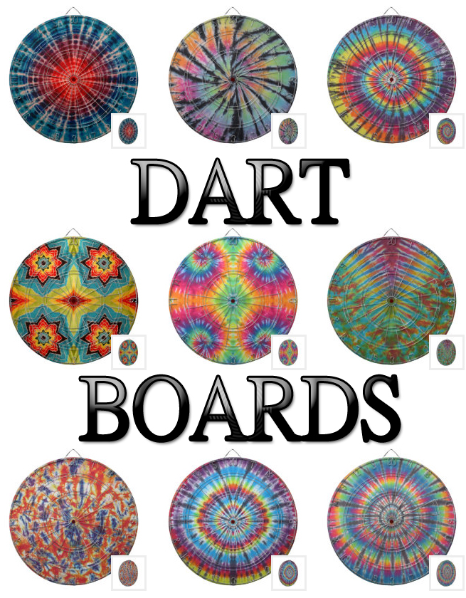 tie dye dart boards from zazzle