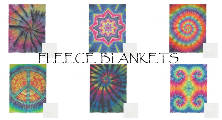 tie dye fleece blankets from zazzle