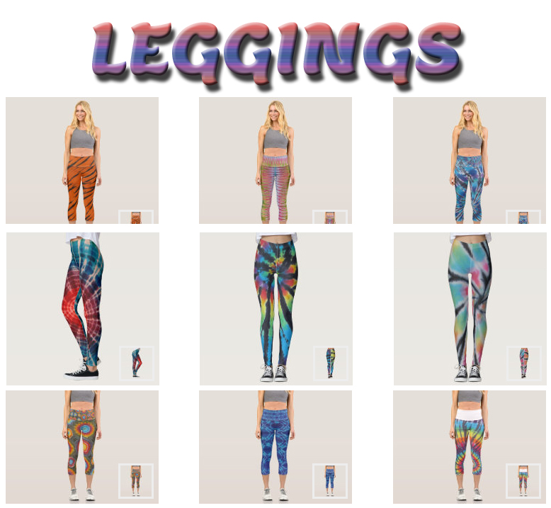 tie dye leggings and capris from zazzle