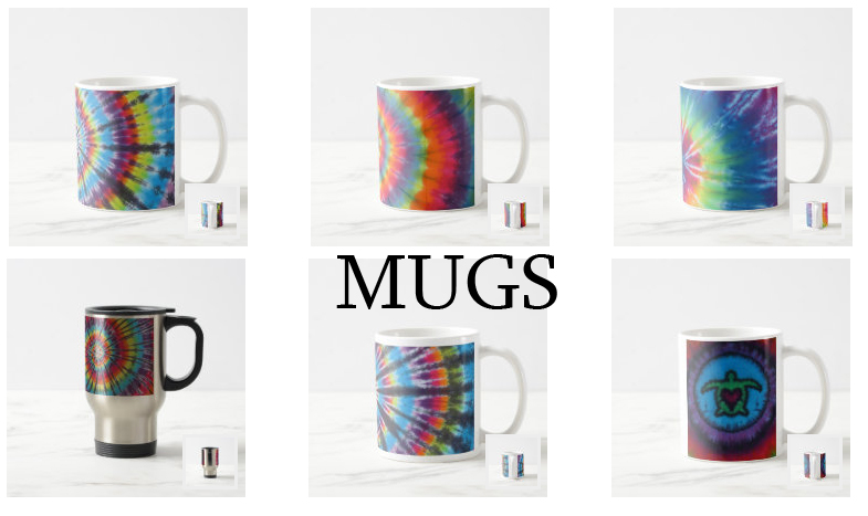 tie dye mugs from zazzle