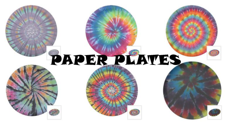 tie dye paper plates from zazzle