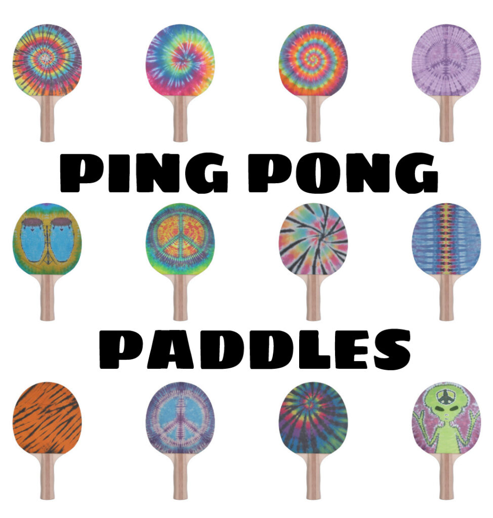 Tie Dye Ping Pong Paddles from Zazzle