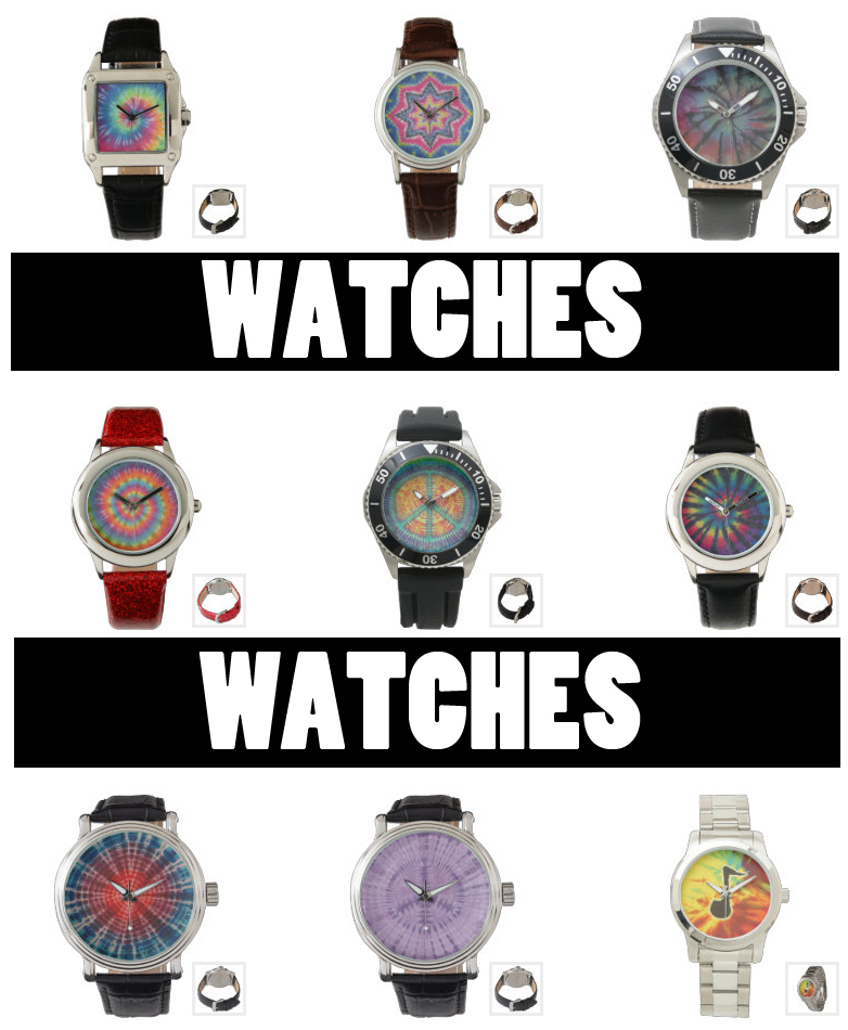 tie dye watches from zazzle