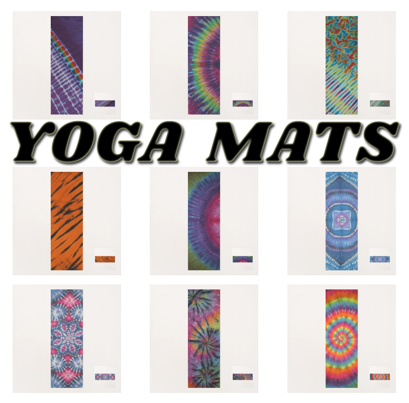 tie dye yoga mats from zazzle