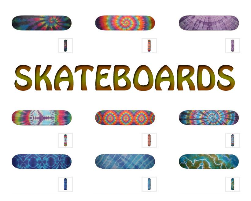 Tie Dye Skateboard from Zazzle